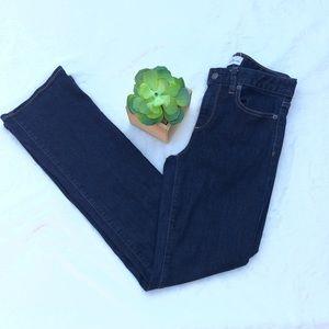 Gap 26 Short Perfect Boot Jeans Dark Wash